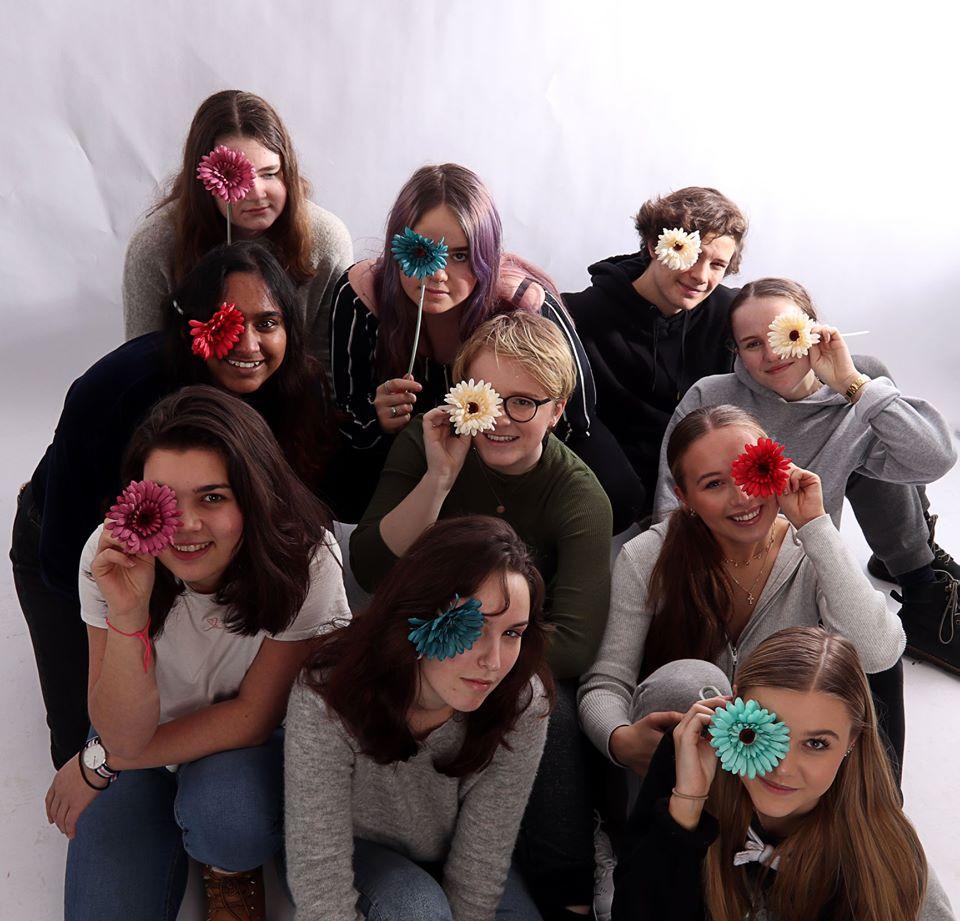 Gjengen i 3. klasse på medier og kommunikasjon ved Nesodden VGS.