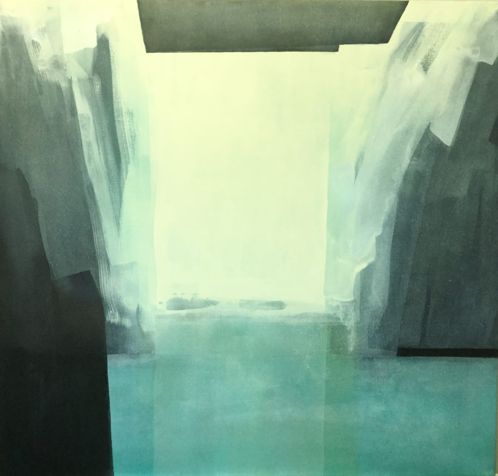 """Ingrid Ousland - """"Vårløsning"""", akryl, 85x90, 2020"""