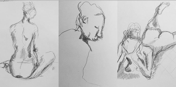 kroki - tre tegninger